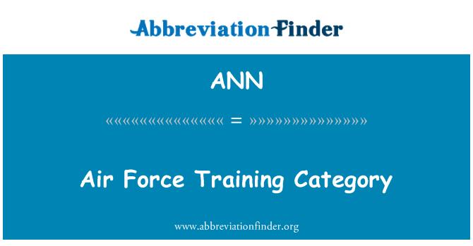 ANN: 空军培训类别