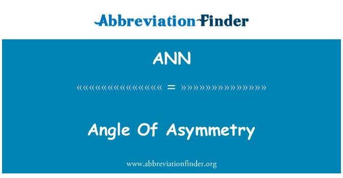 ANN: Sudut asimetri