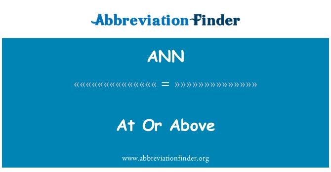 ANN: Pada atau di atas