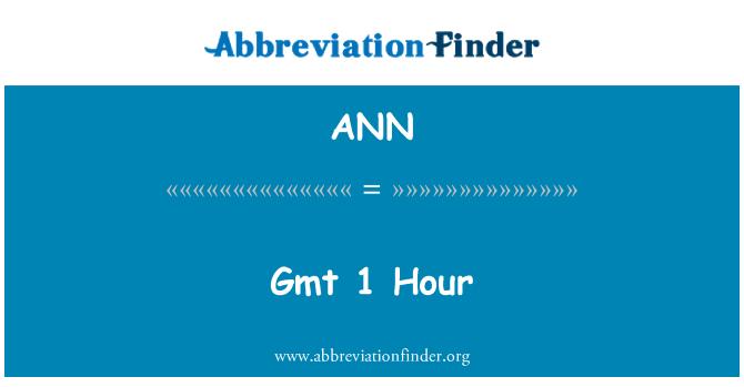 ANN: GMT 1 jam
