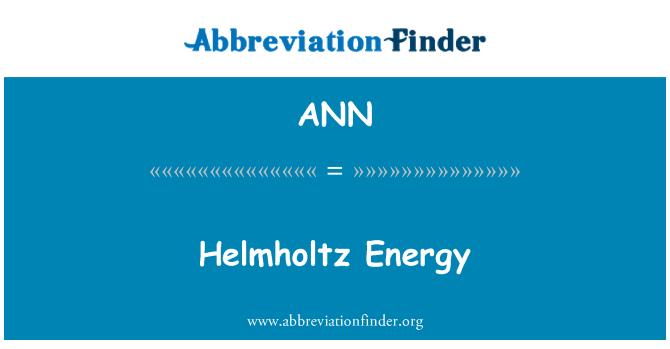 ANN: 亥姆霍兹能源