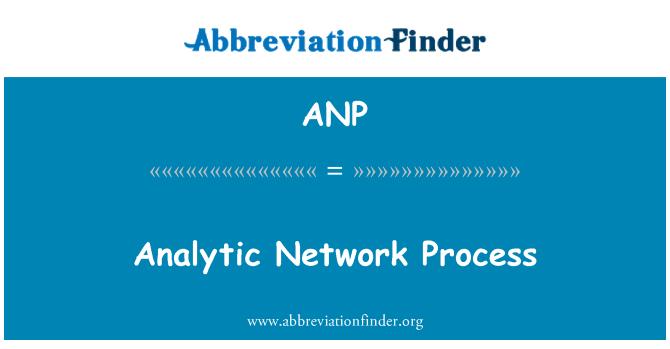 ANP: Analytic Network Process