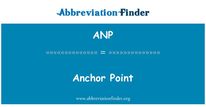 ANP: Anchor Point
