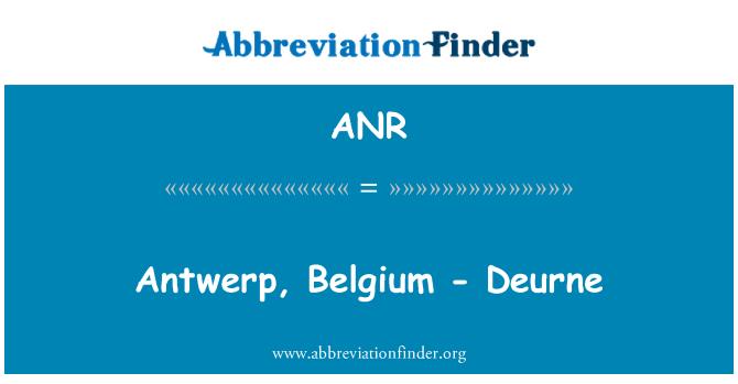 ANR: Antwerp, Belgium - Deurne