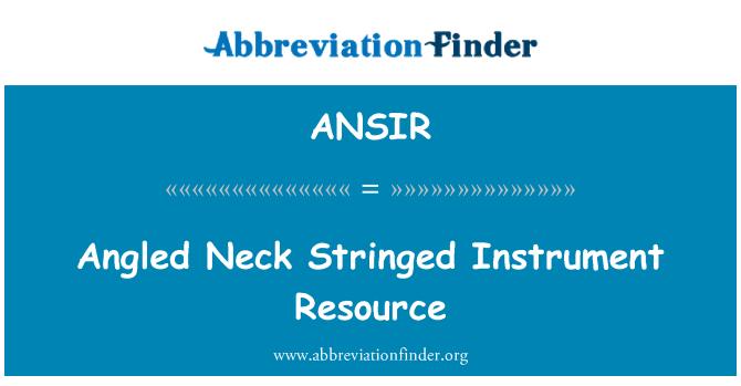 ANSIR: Angled Neck Stringed Instrument Resource