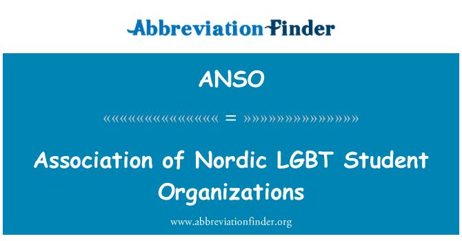 ANSO: Asociace Nordic LGBT studentských organizací