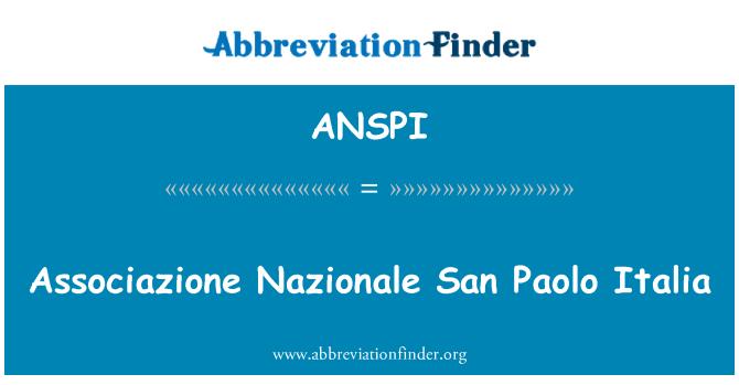 ANSPI: Associazione Nazionale San Paolo Italia