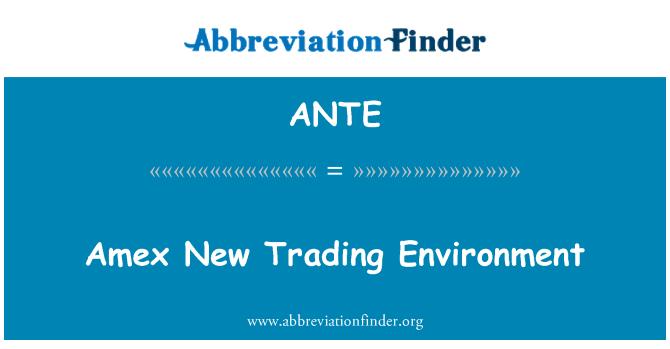 ANTE: Amex nuevo clima comercial