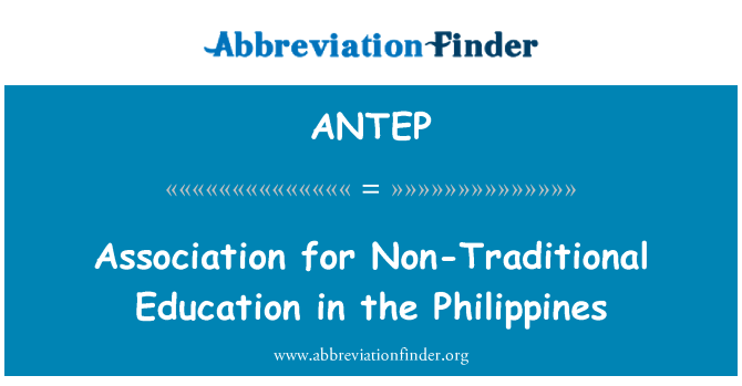ANTEP: Association for Non-Traditional Education in the Philippines