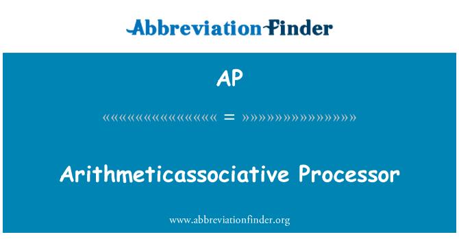 AP: Pemproses Arithmeticassociative