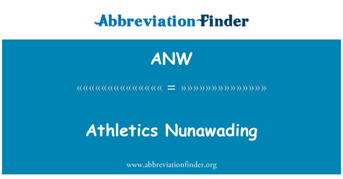 ANW: Athletics Nunawading