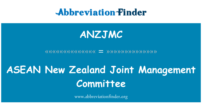 ANZJMC: ASEAN New Zealand Joint Management Committee