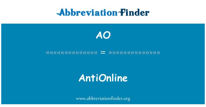 AO: AntiOnline