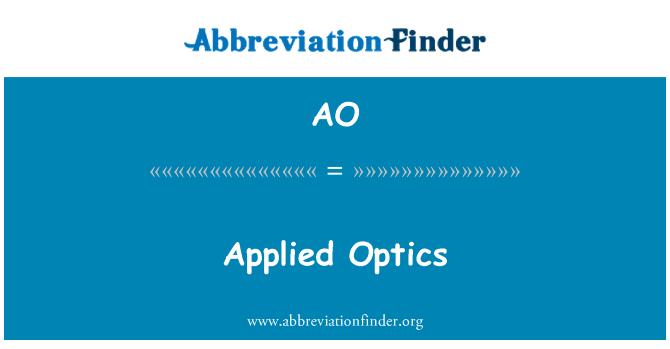 AO: Applied Optics
