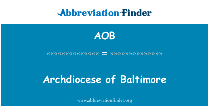 AOB: Archdiocese of Baltimore