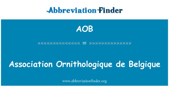 AOB: Association Ornithologique de Belgique