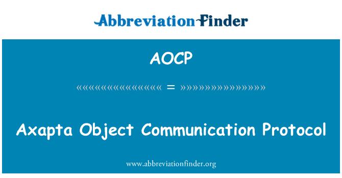 AOCP: Protocolo de comunicación objeto Axapta