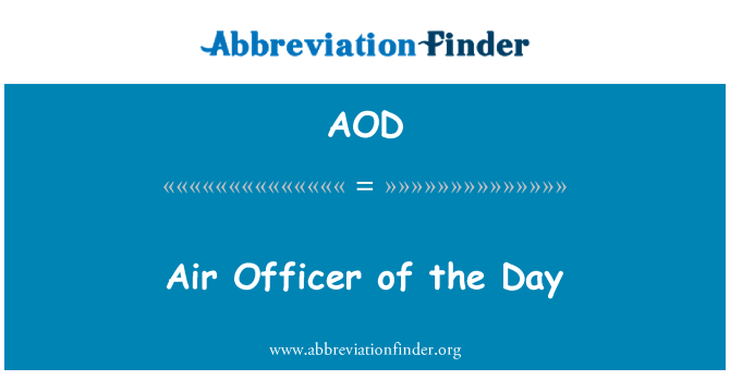 AOD: Air Officer of the Day