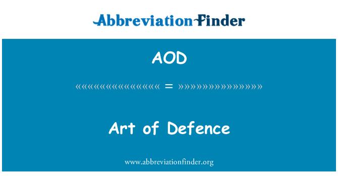 AOD: Art of Defence