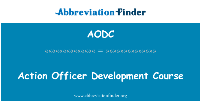 AODC: Action Officer Development Course