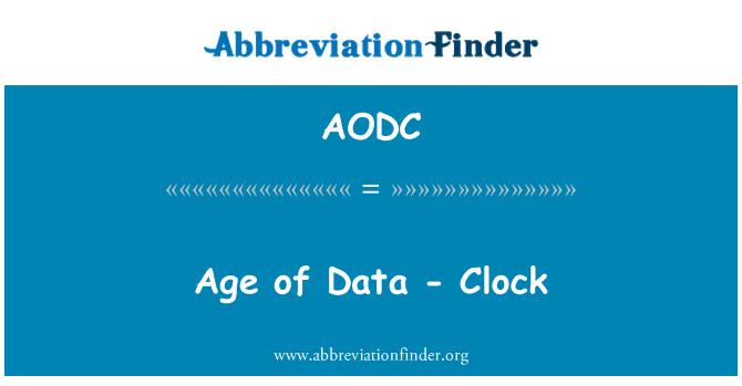 AODC: Age of Data - Clock