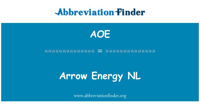 AOE: Arrow Energy NL