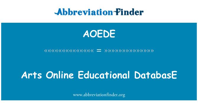 AOEDE: Arts Online Educational DatabasE