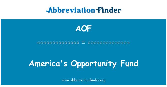 AOF: Fondo de oportunidad de los Estados Unidos