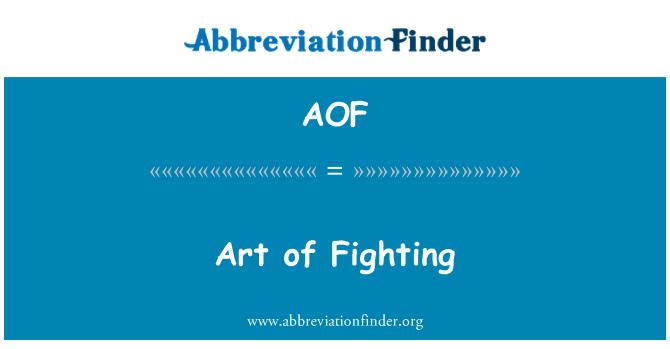 AOF: Arte de la lucha
