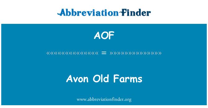 AOF: Antiguas haciendas de Avon