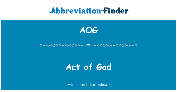 AOG: Act of God