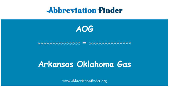 AOG: Arkansas Oklahoma Gas