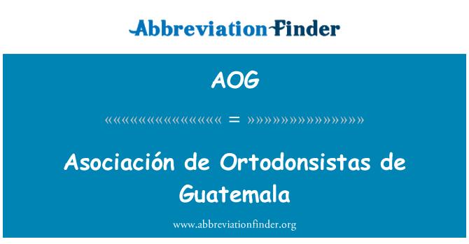 AOG: Asociación de Ortodonsistas de Guatemala
