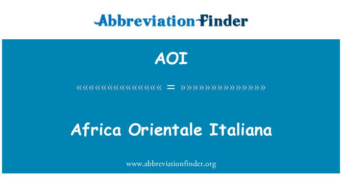 AOI: Africa Orientale Italiana
