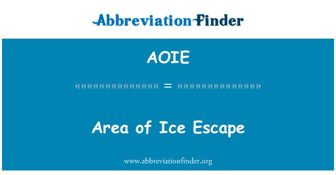 AOIE: Area of Ice Escape