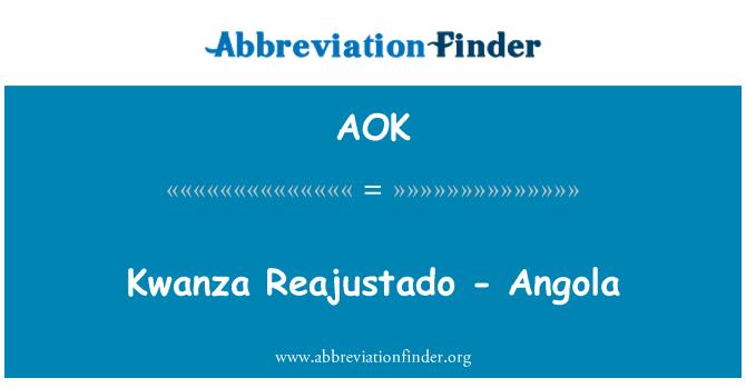 AOK: Kwanza Reajustado - Angola