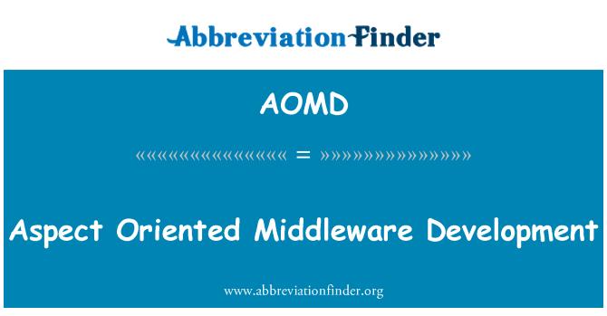 AOMD: Boy ara yazılım geliştirme odaklı