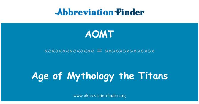 AOMT: Age of Mythology the Titans