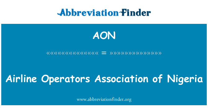 AON: Airline Operators Association of Nigeria