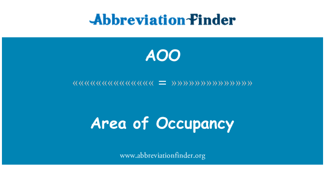 AOO: Area of Occupancy