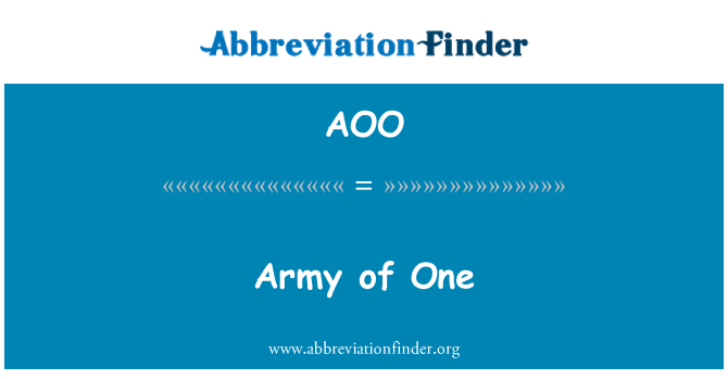 AOO: Army of One
