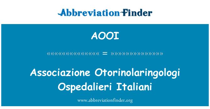 AOOI: Associazione اٹورانولارانگولوگا عثپیڈالیرا اٹالاانا