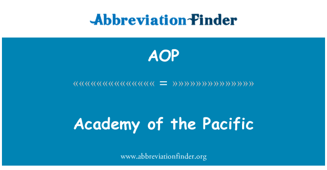AOP: Academy of the Pacific