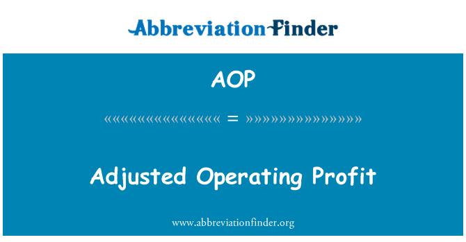 AOP: Adjusted Operating Profit
