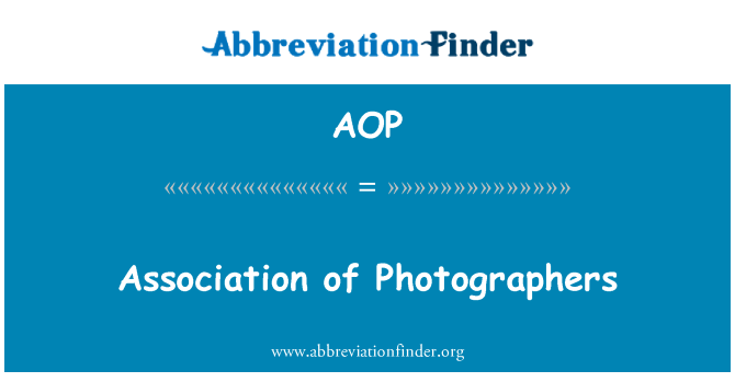 AOP: Association of Photographers