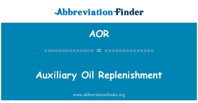 AOR: Auxiliary Oil Replenishment