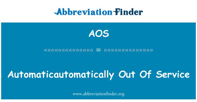 AOS: Automaticautomatically daripada Perkhidmatan