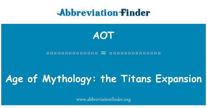 AOT: Age of Mythology: the Titans Expansion