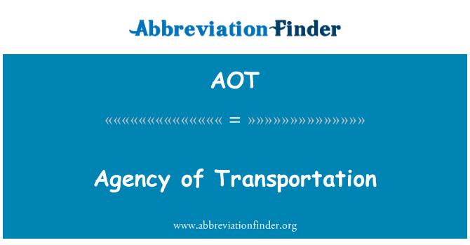 AOT: Agency of Transportation