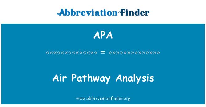 APA: Air Pathway Analysis